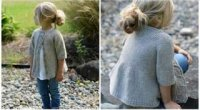 В'язані дитячі кофтинки спицями для дівчаток зі схемами та описом