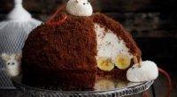 Торт з бананами «Норка крота»: покрокові рецепти з фото
