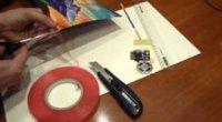 Як зробити музичну листівку з клаптів тканини і музичного елемента