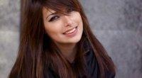 Косий чубчик на довге волосся: варіанти укладання