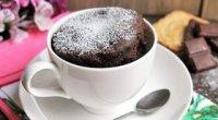 Як зробити шоколадний кекс в кружці за 5 хвилин в мікрохвильовці