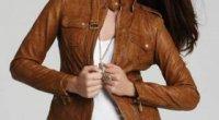З чим одягти коричневу шкіряну куртку?