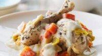 Фрікасе з курки: класичний рецепт з овочами і грибами