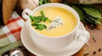 Курячий суп-пюре з сиром або плавленными сирками
