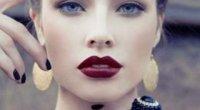 Темно-червона помада: як правильно робити макіяж