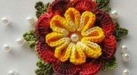 Об'ємна квітка гачком: майстер-клас для рукодільниць