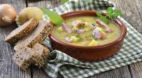 Скільки калорій в гороховому супі з копченостями і куркою?