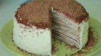 Млинцевий торт з сирним кремом і згущеним молоком: рецепти