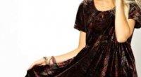 Як і з чим носити плаття з оксамиту?