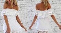 Пляжне плаття на гумці: викрійка і пошиття
