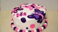 Торт з мастики для дівчинки на рік і 5 років