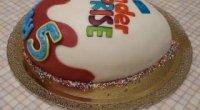 Смачний подарунок на день народження – торт «Кіндер-сюрприз»