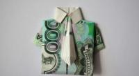Як з купюри зробити сорочку з краваткою своїми руками?