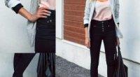 Що носити з джинсами із завищеною талією