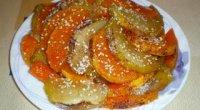 Гарбуз, запечений в духовці з яблуками