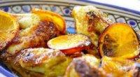 Рецепт курки з апельсинами в духовці з фото