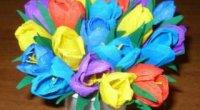 Гофрований папір – основа для створення тюльпанів