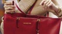 Жіноча червона сумка – замшева, шкіряна, лакова