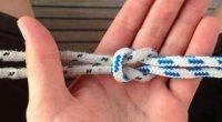 Як зав'язати морський вузол на мотузці і гачку?
