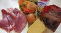 М'ясо по-французьки в духовці з картоплею та грибами
