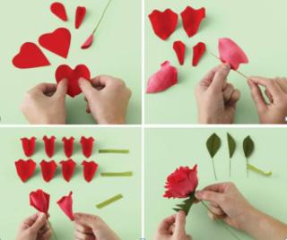 Роза из гофрированной бумаги своими руками пошаговая инструкция - Lance-lot.ru