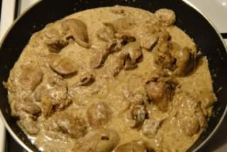 Печень со сливками пошаговый рецепт фото