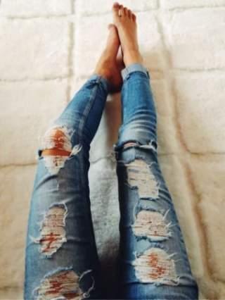 Як зробити потертості на джинсах. Головне питання не в тому 6eae65a449635