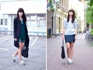 Як носити кросівки з сукнею ~ Жіночий сайт