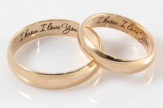 Написи на обручках є постійним визнанням любові. Адже не всі подружжя  говорять про свою любов щодня 9260ea390f456